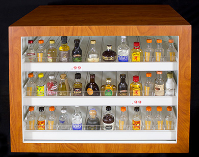 50ml Liquor Bottle Display