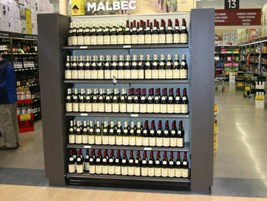 End Cap with Wine Bottles